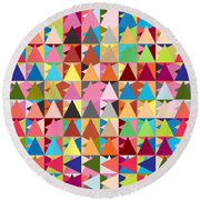 Abstract Of Colors  Round Beach Towel