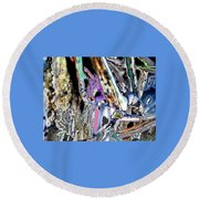 Abstract On Dream  Round Beach Towel