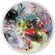 Abstract Painting Colourful Art Round Beach Towel