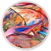 Abstract - Paper - Origami Round Beach Towel
