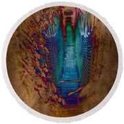 Abstract Path Round Beach Towel