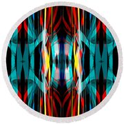 Abstract Pattern 3 Round Beach Towel