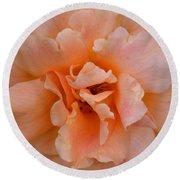 Abstract Peach Rose Round Beach Towel