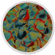 Abstract Rose Petals Round Beach Towel