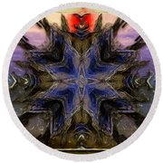 Abstract Perception Round Beach Towel