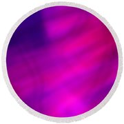 Abstract Pink And Blue Blur Round Beach Towel