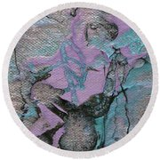 Abstract Pour 3 Round Beach Towel