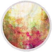 Abstract Print 14 Round Beach Towel