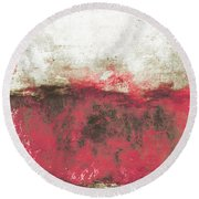 Abstract Print 21 Round Beach Towel