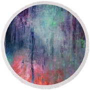 Abstract Print 25 Round Beach Towel