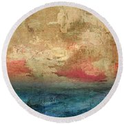 Abstract Print 3 Round Beach Towel