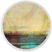 Abstract Print 5 Round Beach Towel