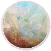Abstract Print 6 Round Beach Towel