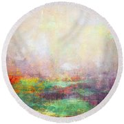 Abstract Print 8 Round Beach Towel