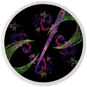 Abstract Psychedelic Modern Art Round Beach Towel