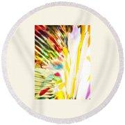 Abstract Rainbow Round Beach Towel