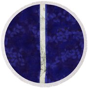 Abstract Rectangles Iv Round Beach Towel