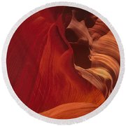 Abstract Red Sandstone Formations Lower Antelope Slot Round Beach Towel