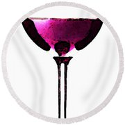 Abstract Red Wine Glass 2 Round Beach Towel
