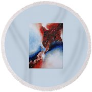 Abstract Rendezvous Round Beach Towel