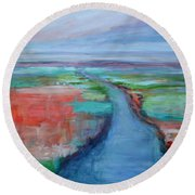 Abstract River Round Beach Towel