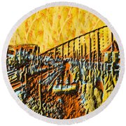 Abstract Roller Coaster Round Beach Towel