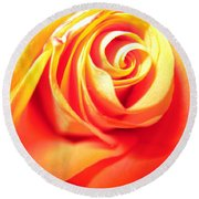 Abstract Rose 2 Round Beach Towel