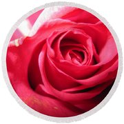 Abstract Rose 4 Round Beach Towel