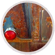 Abstract Rust Round Beach Towel