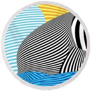 Abstract - Sailing Round Beach Towel