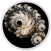 Abstract Seashell Round Beach Towel