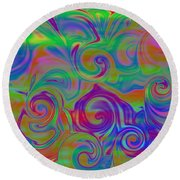 Abstract Series 5 Number 3 Round Beach Towel