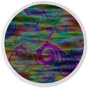 Abstract Series 5 Number 4 Round Beach Towel