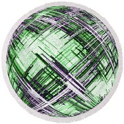 Abstract Spherical Design Round Beach Towel