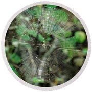 Abstract Spider Web Round Beach Towel