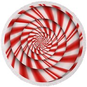Abstract - Spirals - The Power Of Mint Round Beach Towel