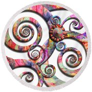Abstract - Spirals - Wonderland Round Beach Towel