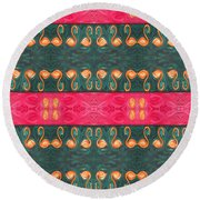 Abstract 814 Round Beach Towel