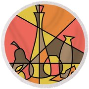 Abstract Still Life 2 Round Beach Towel