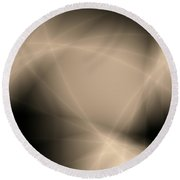 Abstract Storm Light Round Beach Towel