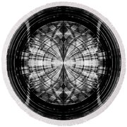 Abstract Structure 2 Round Beach Towel