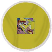 Abstract Study 1985 Round Beach Towel