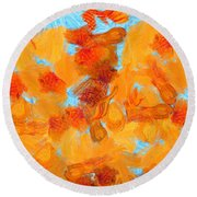 Abstract Summer Round Beach Towel
