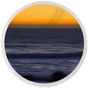 Pacific Abstract Sunset Round Beach Towel