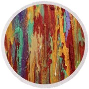 Abstract Sunset Over Tuscany  Round Beach Towel
