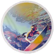 Abstract Surf Round Beach Towel