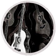Abstract Taylor Guitars Round Beach Towel