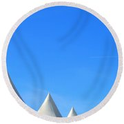 Abstract Tent Tops Round Beach Towel