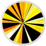 Abstract Tiger Art Round Beach Towel
