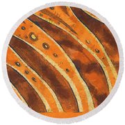 Abstract Tiger Stripes Round Beach Towel